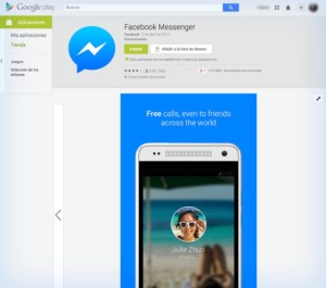 Messenger-llamadas-Gogle-Play